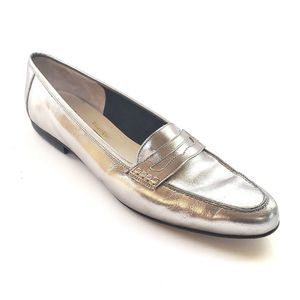 Salvatore Ferragamo Boutique Metallic Loafers